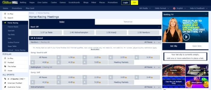 William Hill Horse Race Betting